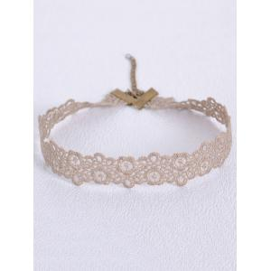 Hollow Out Blossom Choker - LIGHT COFFEE