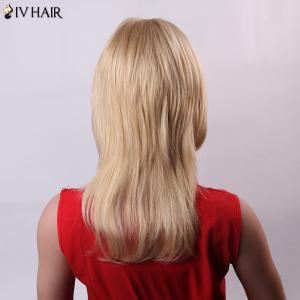 Vogue Long Layered Siv Hair Capless Fluffy Natural Wave Human Hair Wig For Women - JET BLACK
