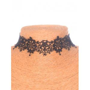 Vintage Star Flower Choker - BLACK