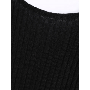Sexy Backless Sleeveless Bodycon Solid Color Knitted Dress For Women -