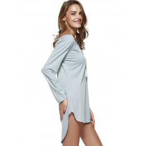 Brief Pure Color High-Low Dress -