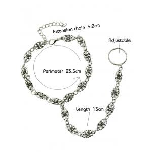 Hollow Out Floral Indian Anklet -