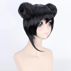 Vogue Short With Double Chignons Love Live Yazawa Nico Awake Kimono Uniform Style Cosplay Wig -
