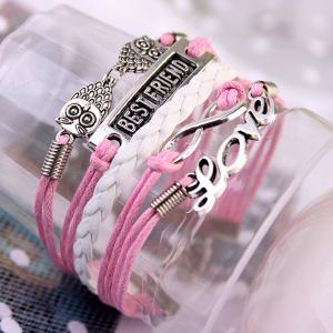 Stylish Infinite Owl Strand Bracelet For Women -