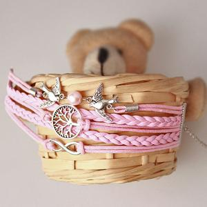 Tree of Life Infinity Friendship Bracelet - PINK