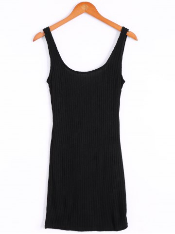 New Sexy Backless Sleeveless Bodycon Solid Color Knitted Dress For Women