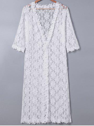 Sale Sweet 3/4 Sleeve Lace Duster Coat For Women