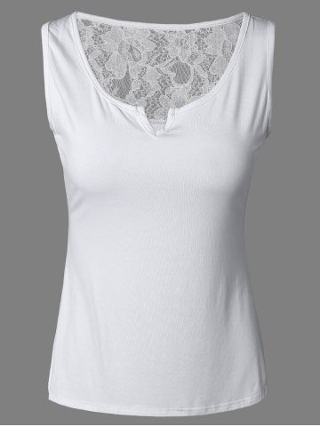 Hot Brief Pure Color Lace Tank Top For Women