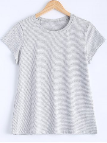 Outfits Simple Design Striped Tee