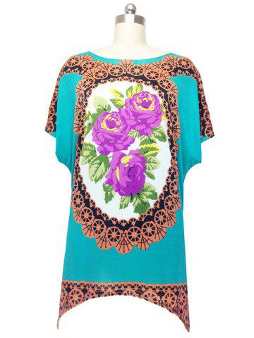 Unique Vintage Floral Print Blouse For Women