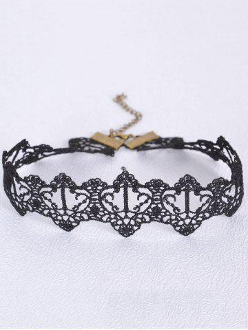 Vintage Black Heart Choker - BLACK