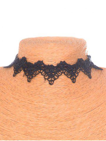 Affordable Gothic Style Velvet Hollowed Choker BLACK