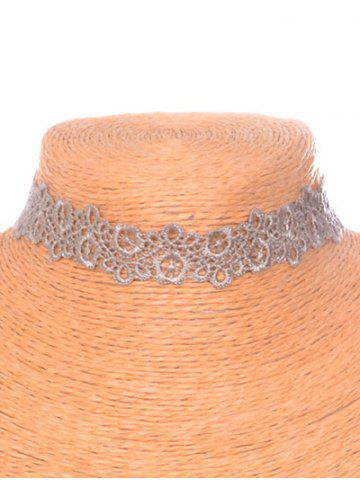 Trendy Hollow Out Blossom Choker LIGHT COFFEE