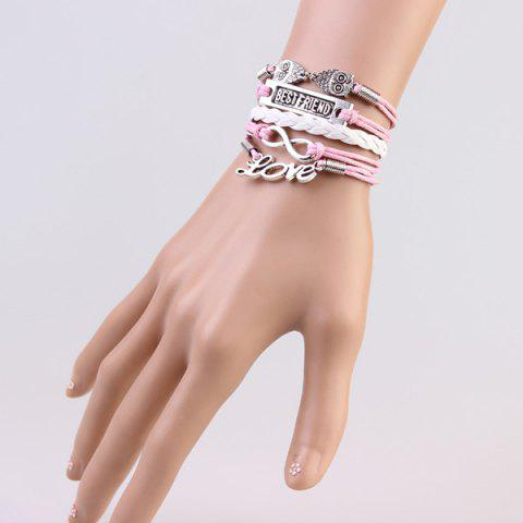 Fashion Stylish Infinite Owl Strand Bracelet For Women