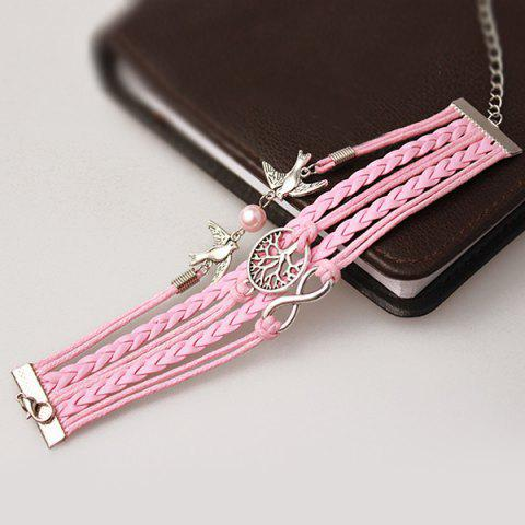 Shop Tree of Life Infinity Friendship Bracelet - PINK  Mobile