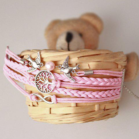 New Tree of Life Infinity Friendship Bracelet - PINK  Mobile