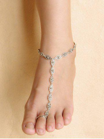 Fashion Hollow Out Floral Indian Anklet