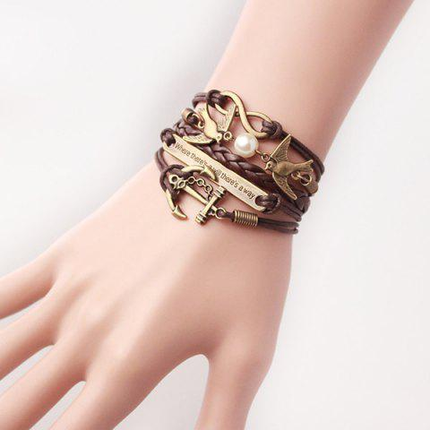 Buy Stylish Anchor Birds Strand Bracelet