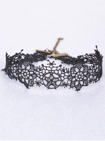 Chic Vintage Star Flower Choker BLACK