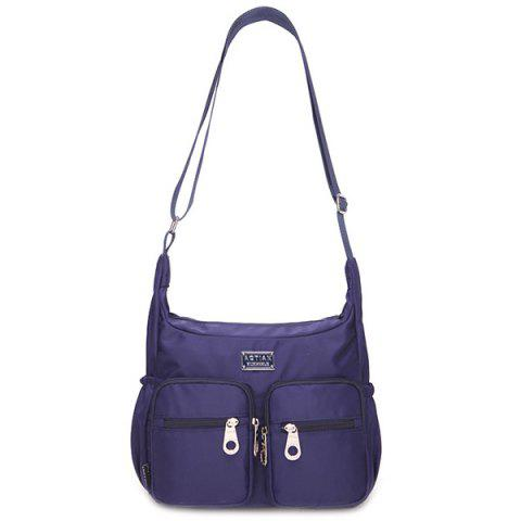 Sale Simple Nylon and Double Pocket Design Shoulder Bag For Women