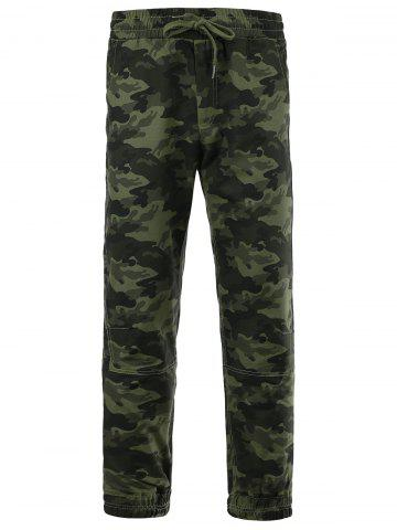 Best Cotton Blends Camouflage Beam Feet Lace-Up Pants