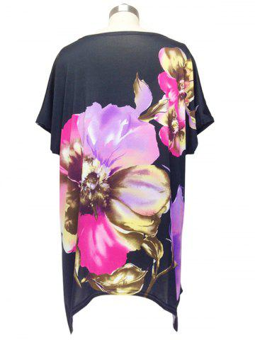 Shops Graceful Cap Sleeve Floral Blouse For Women - ONE SIZE BLACK Mobile