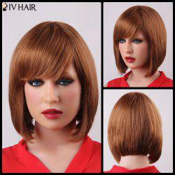 Bob Style Straight Capless Human Hair Elegant Short Side Bang Siv Hair Wig For Women