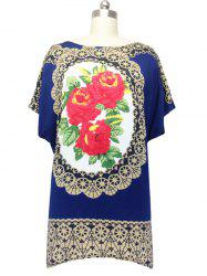 Graceful Loose-Fitting Floral Blouse For Women -