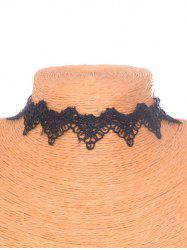 Gothic Style Velvet Hollowed Choker - BLACK