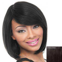 Short Straight Side Bang Women's Charming Human Hair Wig