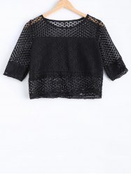 Charming Hollow Out Solid Color Women's Blouse