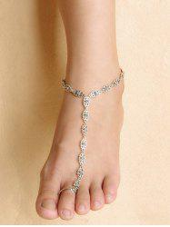 Graceful Floral Anklet - Argent