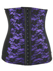 Stunning Floral Spliced Tight Lacing Corset