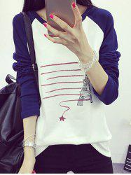 Tower Print Raglan Sleeve T-Shirt
