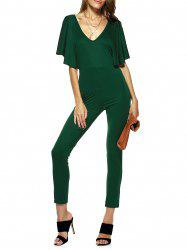 Trendy Dolman Sleeves Cut Out Jumpsuit For Women -