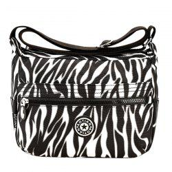 Casual Zipper and Stripes Design Shoulder Bag For Women