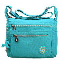 Simple Zippers and Nylon Design Shoulder Bag For Women