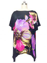 Graceful Cap Sleeve Floral Blouse For Women