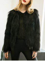 Fake Fur Open Short Coat
