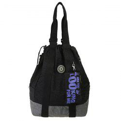 Leisure Color Splicing and Drawstring Design Backpack For Women -