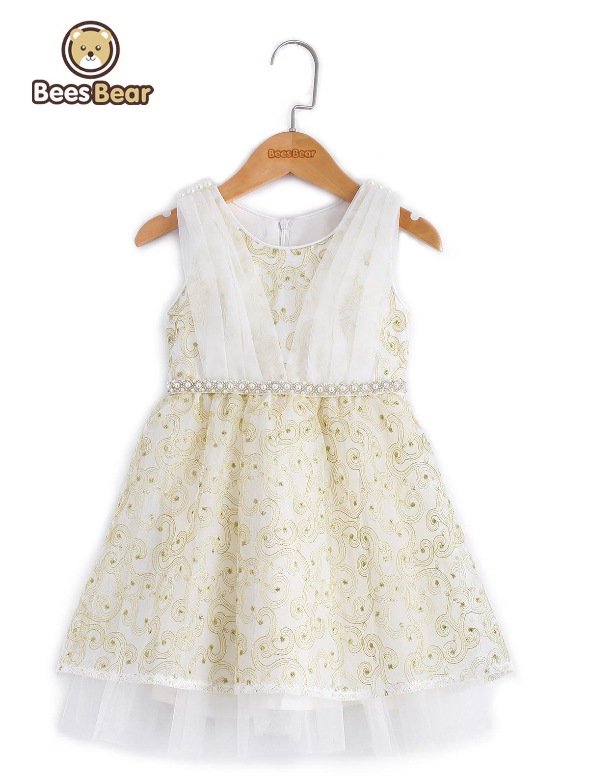 Shops Sweet Beaded Bowknot Design Embroidered Ball Gown Dress