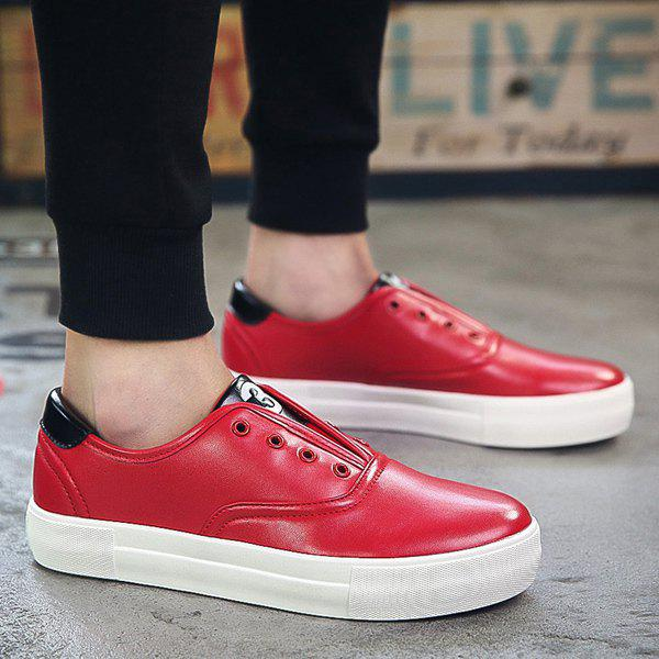 Chic Trendy Colour Splicing and Eyelet Design Casual Shoes For Men