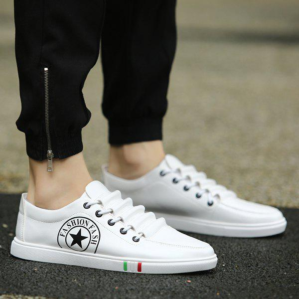 Hot Fashionable Letter and Star Print Design Casual Shoes For Men