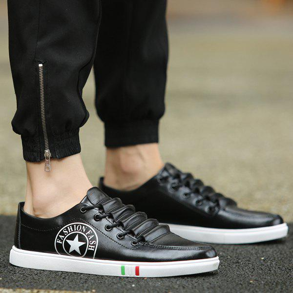 Unique Fashionable Letter and Star Print Design Casual Shoes For Men