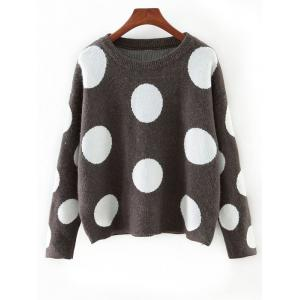 Cute Polka Dot Color Block Sweater