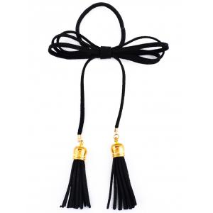 Chic Tassels Elastic Hair Band - Black - S