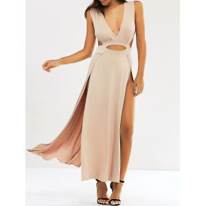 Cut Out Slit Long Night Out Dress