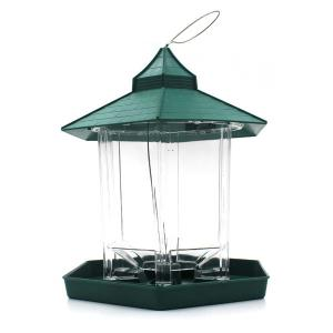 Hot Sale Prorable Lucency Hang Six Sides Pet Bird Feeder Supplies - Green - W24 Inch * L35.5 Inch