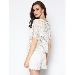 Trendy Crochet Cut Out Cover-Up Top -