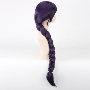 Stylish Purple Long With Braided Ponytail Love Live Tojo Nozomi Fairytale Style Cosplay Wig -